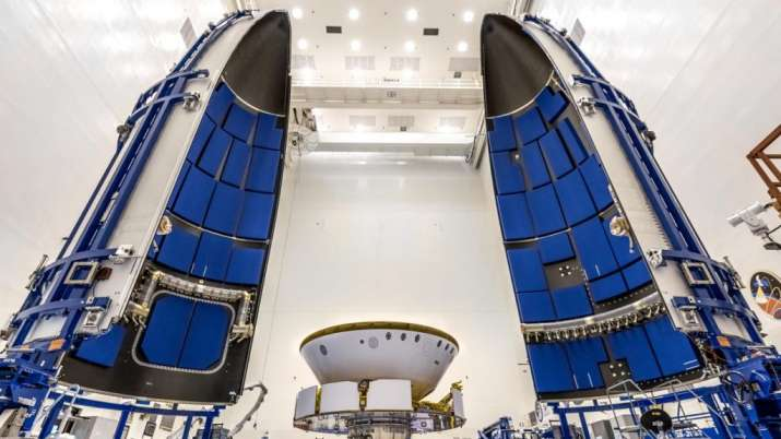 Inside the Payload Hazardous Servicing Facility at NASA's Kennedy Space Center in Florida, the agenc