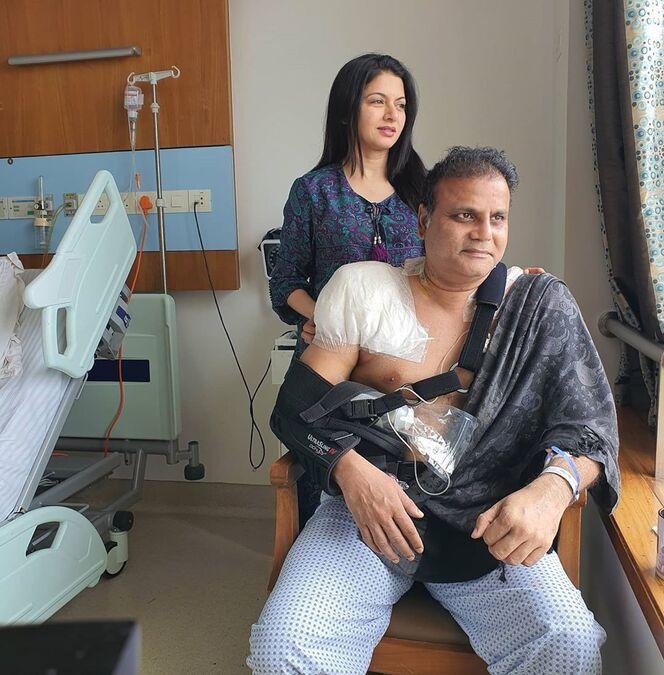Bhagyashree's husband Himalaya has shoulder surgery