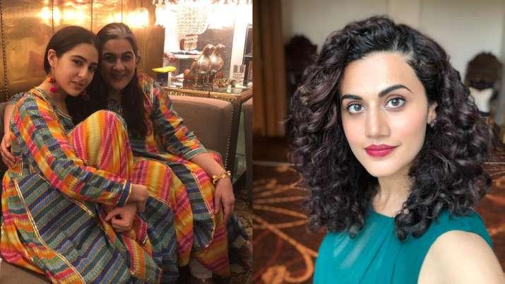 Taapsee Pannu sings praise for Badla costar Amrita Singh. Sara Ali Khan sends 'big hug'