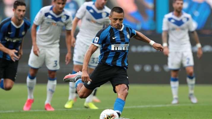 Serie A Alexis Sanchez Shines In Inter Milan S 6 0 Thrashing Of Brescia Football News India Tv