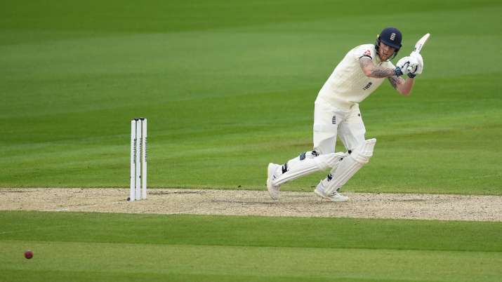 Ben Stokes in action against West Indies on day 4