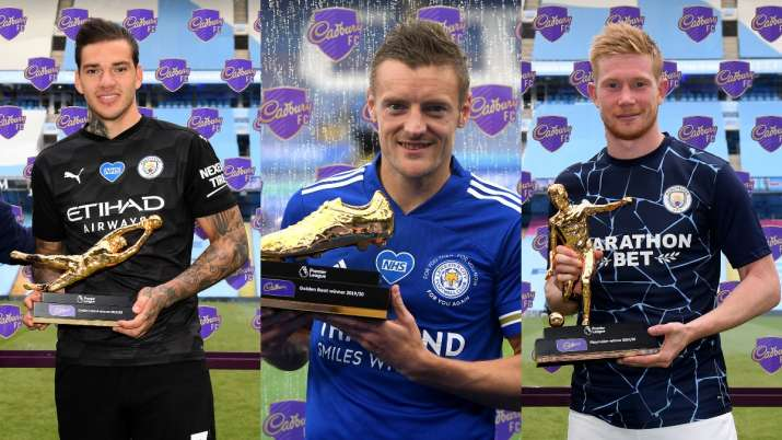Jamie Vardy wins Premier League's Golden Boot, Kevin De ...