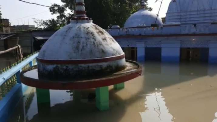 India Tv - The historic Madaneswar Dham Shiv Temple has submerged underwater