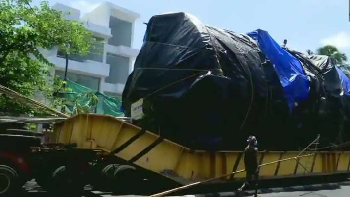 Truck carrying 70 tonnes of aerospace machine took a year to reach Kerala from Maharashtra