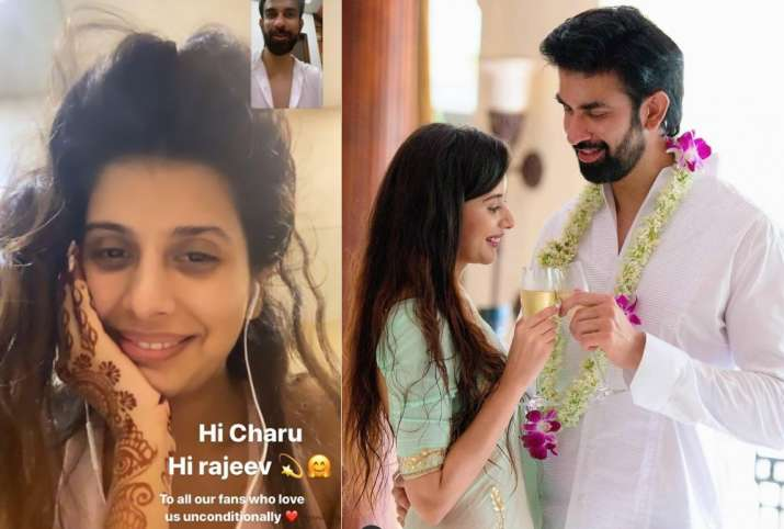 India Tv - Rajeev Sen, wife Charu Asopa video call each other amid separation rumours