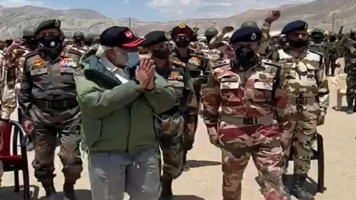 India Tv - PM Modi, Ladakh, Leh, Indo China Clash, Galwan Valley, Line of Actual Control