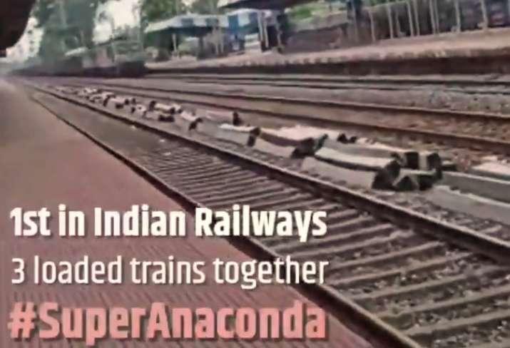 Super Anaconda: Rlys creates history, joins 3 loaded trains to ...