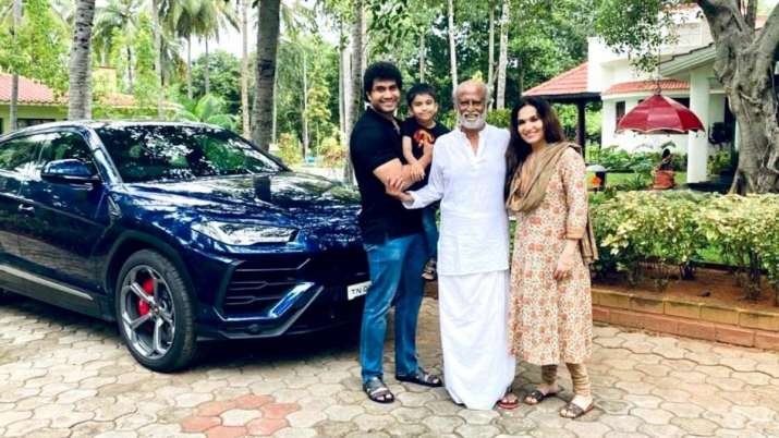 Rajinikanth wears mask and drives Lamborghini, photo goes viral