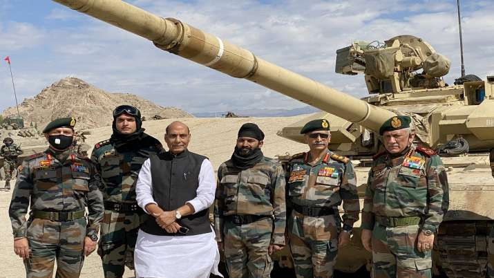 Defence Minister Rajnath Singhreviews security in Ladakh