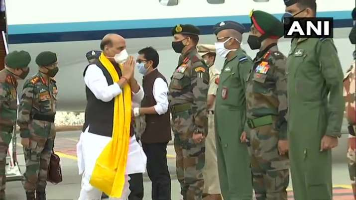India-China LAC standoff: Rajnath Singh reaches Ladakh, CDS