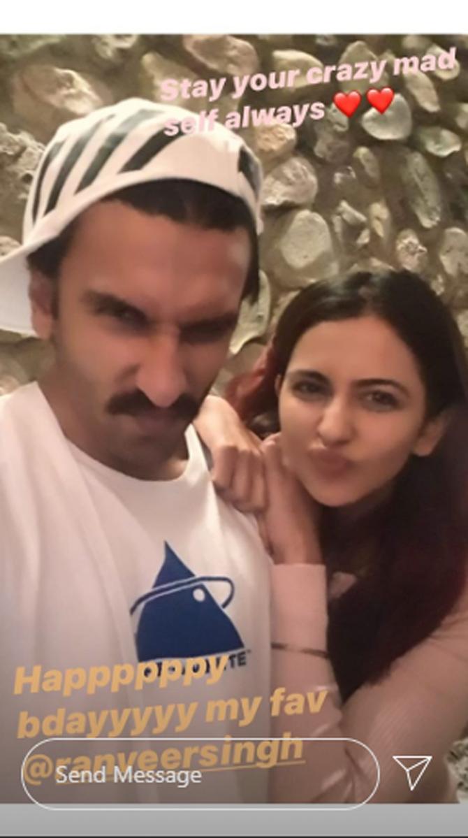 India Tv - Rakul's birthday wish for Ranveer