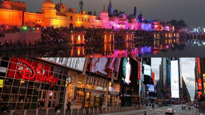 Ram Mandir, Times Square, PM Modi, foundation stone ceremony, Lord Ram images