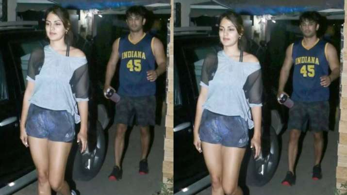 India Tv - Sushant Singh Rajput Rhea Chakraborty last photo