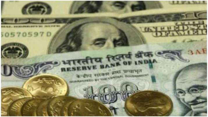 Rupee slips 4 paise to 74.84 per US dollar