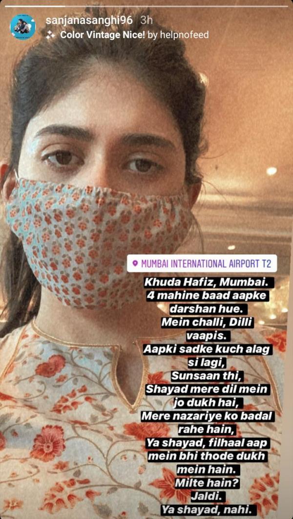 India Tv - Sanjana Sanghi Instagram post