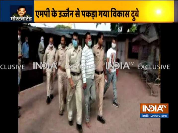 India Tv - Vikas Dubey arrested