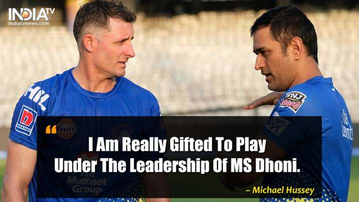India Tv - Michael Hussey on MS Dhoni
