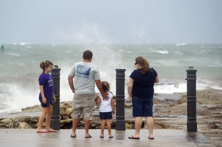 Hurricane Isaias strengthens slightly as it crawls up Florida coast