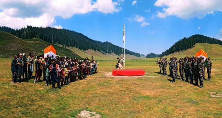 India Tv - 74th Independence Day Celebrations in Kashmir