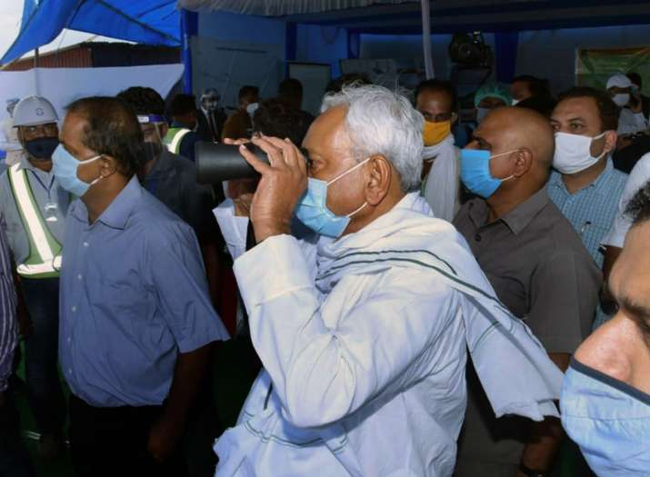 Bihar CM Nitish Kumar inspects Patna Ring Road project