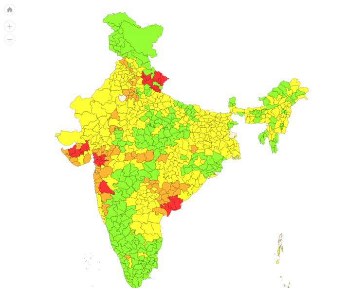 India Tv - District wise IMD warnings
