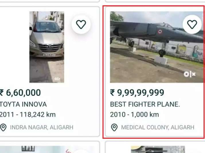 India Tv - Aligarh University aircraft, gifted by IAF listed on OLX for sale for Rs 9.99 crore