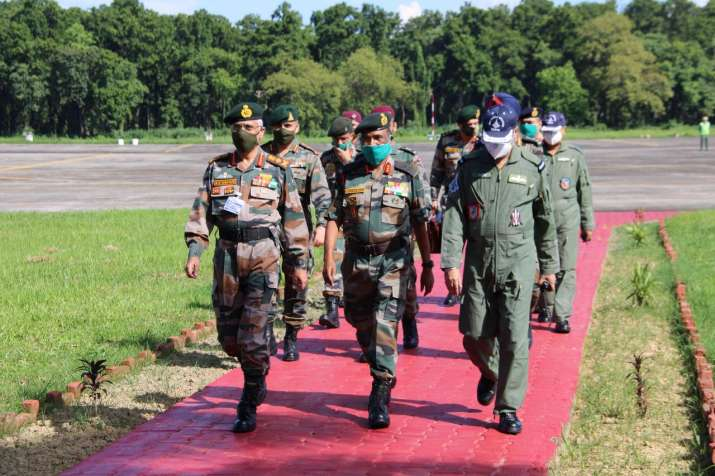 India Tv - Chief of Army Staff visits Tezpur-based 4 Corps, reviews military preparedness along LAC