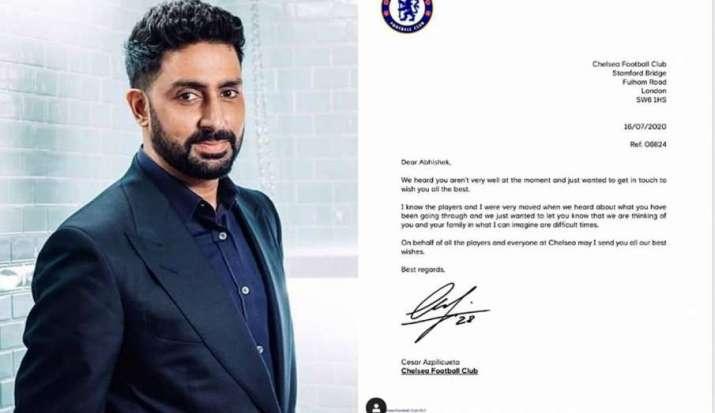 Chelsea fan Abhishek Bachchan receives best wishes from football club