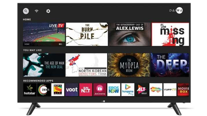 daiwa, daiwa make in india 4k smart tvs, daiwa smart tvs, daiwa 49-inch D50BT162 smart tv, daiwa 49-