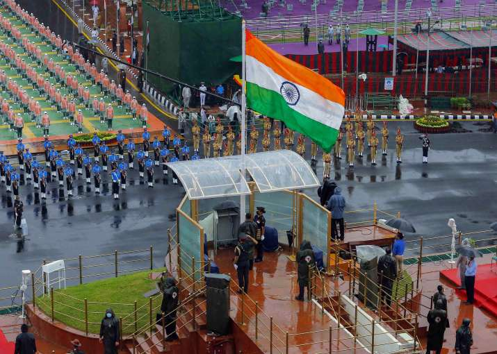 India Tv - New Delhi: Tri-Service contingents during the full dress rehearsals for the 74th Independence Day celebrations, amid the ongoing COVID-19 pandemic, at Red Fort in New Delhi, Thursday, Aug 13, 2020.
