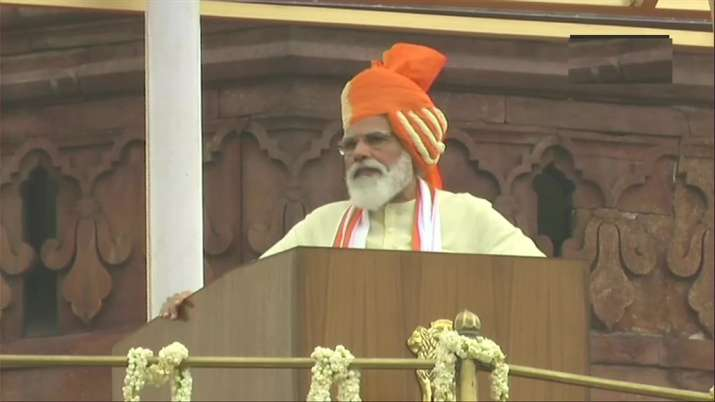 PM Modi at I-Day celebrations