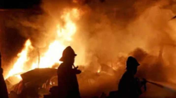 Fire breaks out at shops in Greater Noida