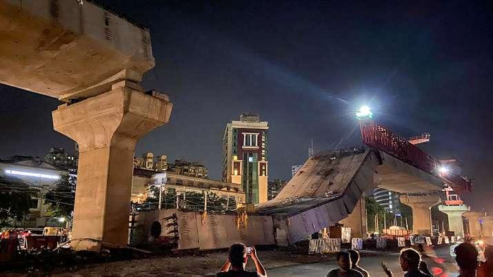 Gurugram: A portion of an under-construction flyover