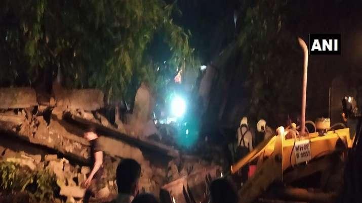 House collapses on Sherley Rajan Road in Mumbai's Bandra