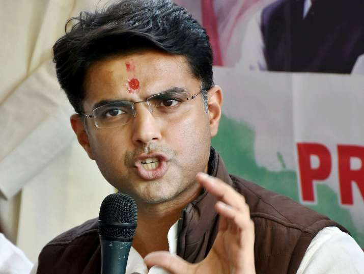 Sachin Pilot interacts with media