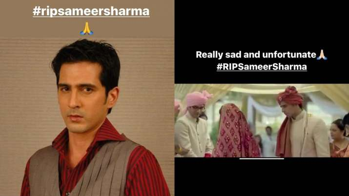 India Tv - Varun Dhawan, Sidharth Malhotra mourn the loss of actor Sameer Sharma
