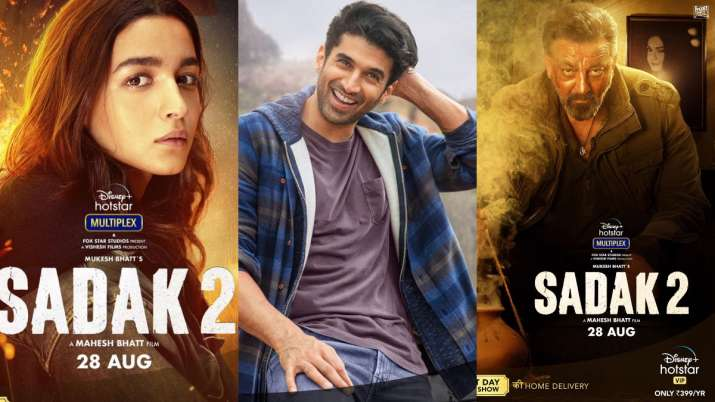 Sadak 2: Alia Bhatt, Aditya Roy Kapur, Sanjay Dutt's first look posters out