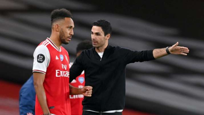 Arsenal manager Mikel Arteta 'pretty confident' about new deal for Aubameyang