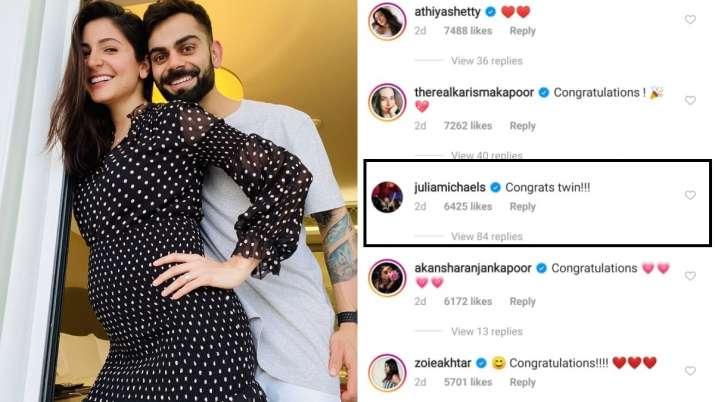 India Tv - Anushka Sharma's celebrity lookalike Julia Michaels congratulate her on pregnancy