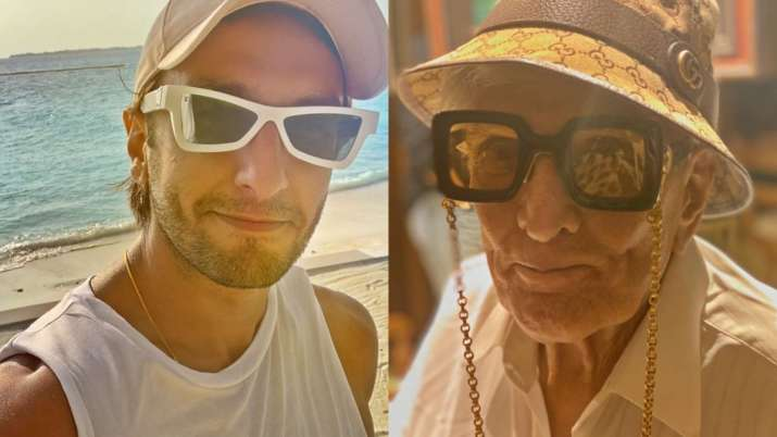 Ranveer Singh shares funky picture of his 'Nana G'