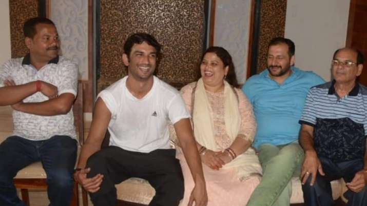 Sushant Singh Rajput with family in Saharsa