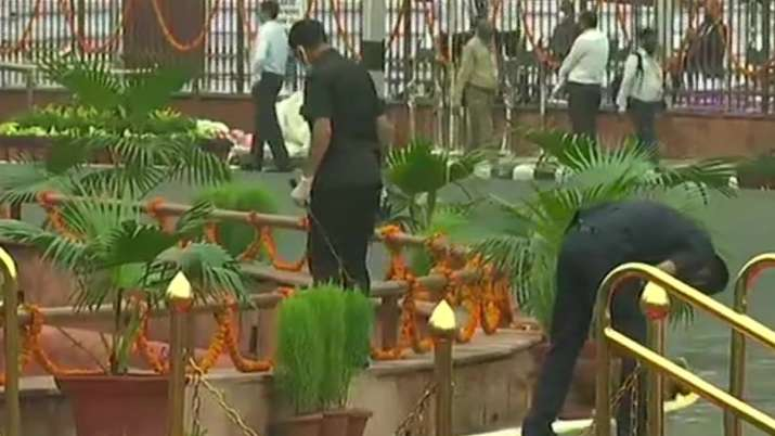 India Tv - Security check being conducted in Red Fort premises ahead of #IndependenceDay celebrations