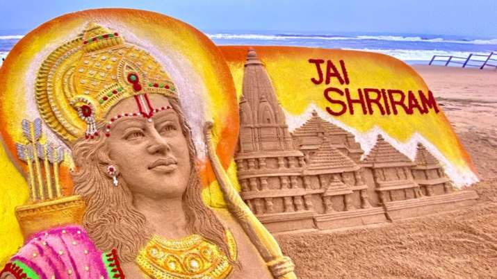 Sudarsan Pattnaik's sand art of Ram Mandir ahead of 'bhoomi pujan' leaves netizens mesmerised