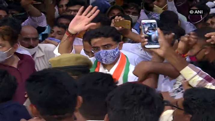 WATCH: 'I love you' chants greets Sachin Pilot as he walks past his supporters with folded hands in