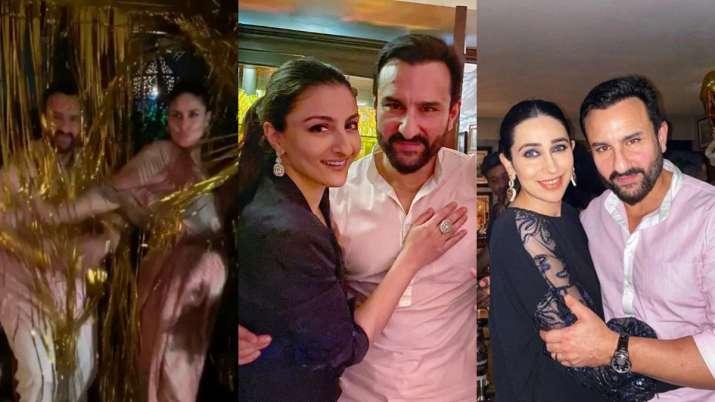 Saif Ali Khan turns 50: Kareena Kapoor with baby bump, Soha & Karisma have a blast. Watch quirky vid