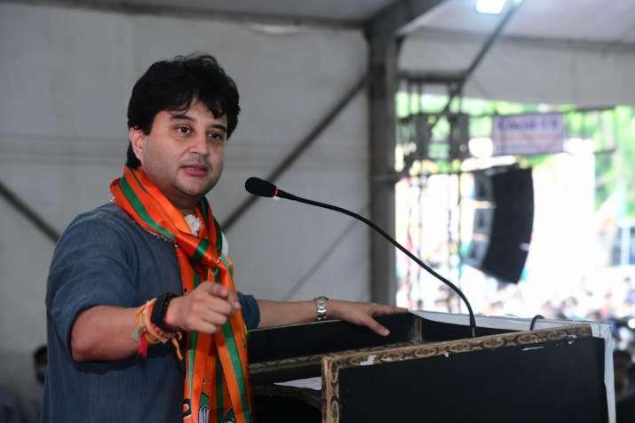BJP leader Jyotiraditya Scindia takes jibe at Kamal Nath during Gwalior rally