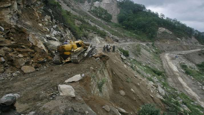 Uttarakhand: 2 drivers missing after heavy earth moving machines fall into gorge during landslide