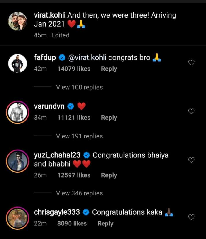 India Tv - Cricket fraternity wishes Virat Kohli and Anushka Sharma.