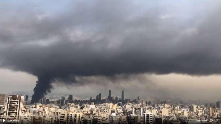 India Tv - Beirut Fire, Beirut explosion