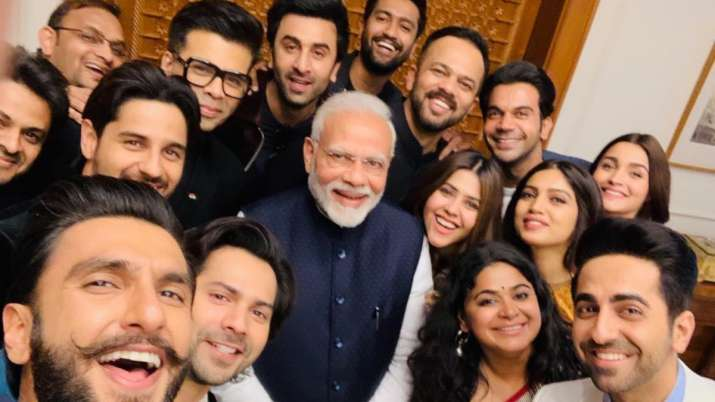 On PM Modi's birthday, witness his iconic selfie moment with Bollywood celebrities